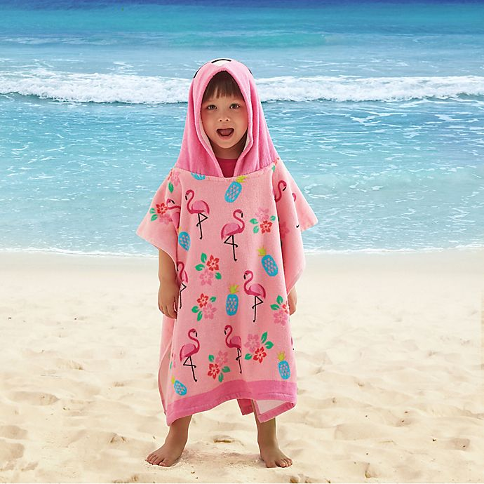 Alternate image 1 for Flamingo Kids Hooded Beach Towel