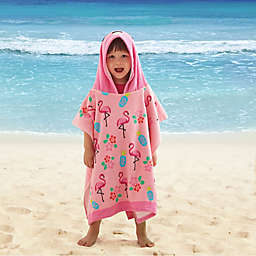 Flamingo Kids Hooded Beach Towel