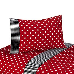 Sweet Jojo Designs Polka Dot Ladybug Sheet Set