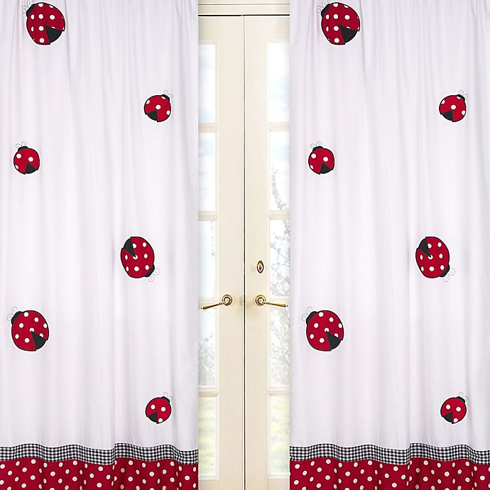 Alternate image 1 for Sweet Jojo Design Polka Dot Ladybug 84-Inch Window Panels (Set of 2)