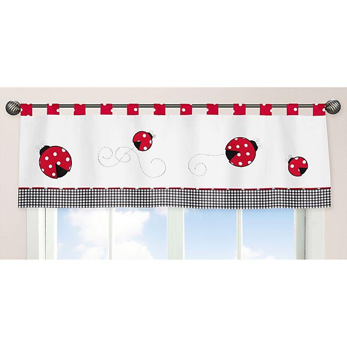 Alternate image 1 for Sweet Jojo Designs Polka Dot Ladybug Window Valance