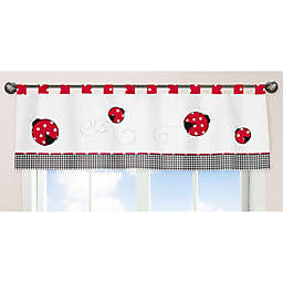 Sweet Jojo Designs Polka Dot Ladybug Window Valance