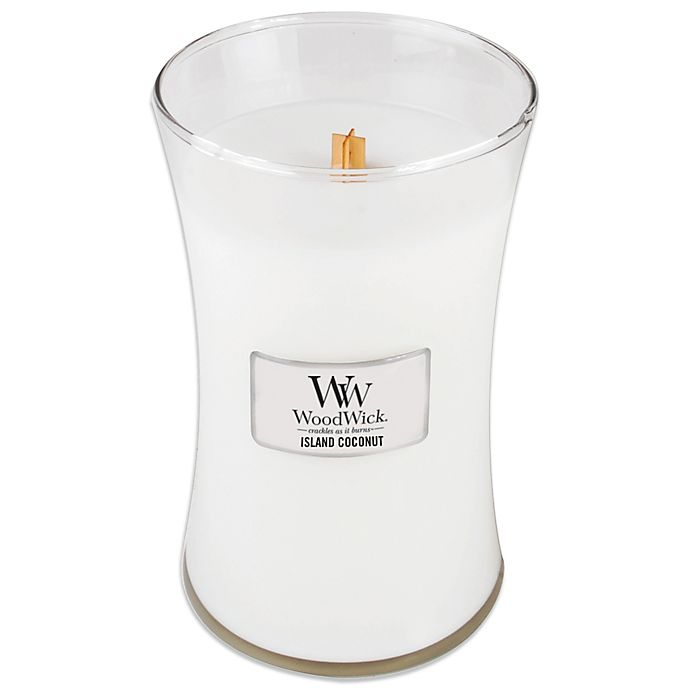 Alternate image 1 for WoodWick® Island Coconut 22 oz. Jar Candle