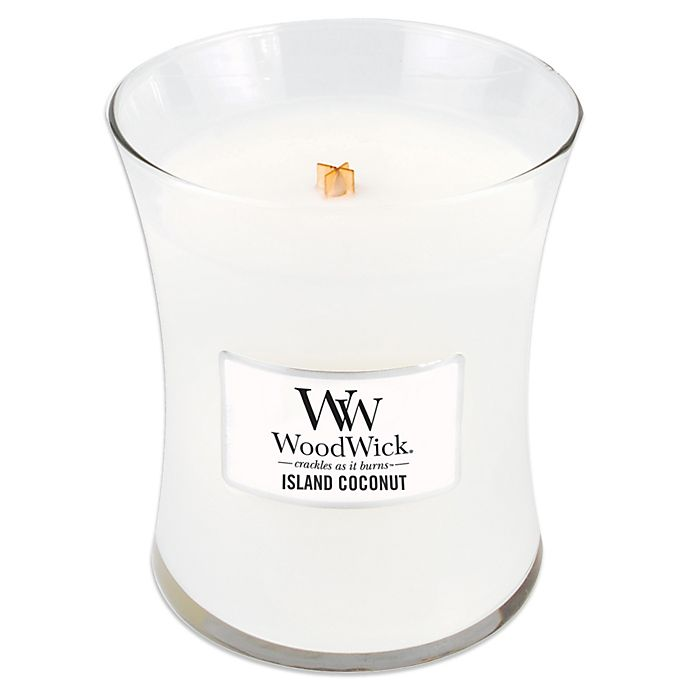 Alternate image 1 for WoodWick® Island Coconut 10 oz. Jar Candle
