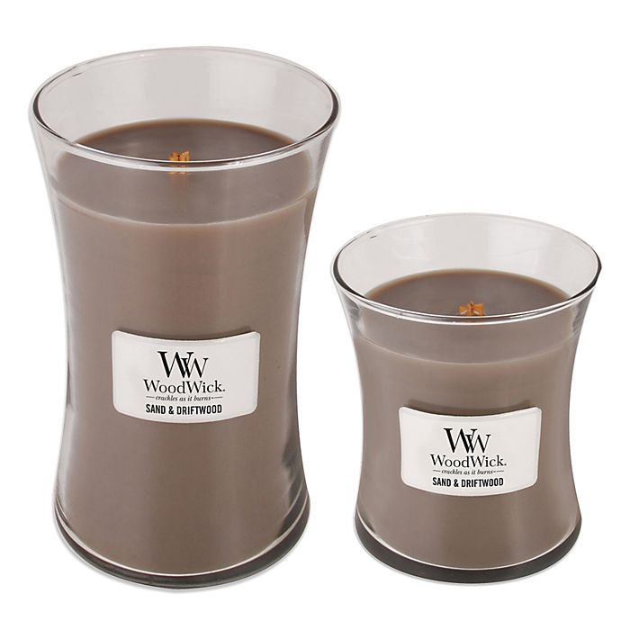 Alternate image 1 for WoodWick® Sand & Driftwood Jar Candles