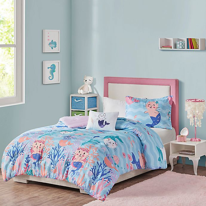 Alternate image 1 for Mi Zone Kids Playful Purrmaids Bedding Collection