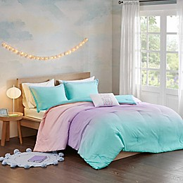 Mi Zone Glimmer Reversible Bedding Collection in Aqua