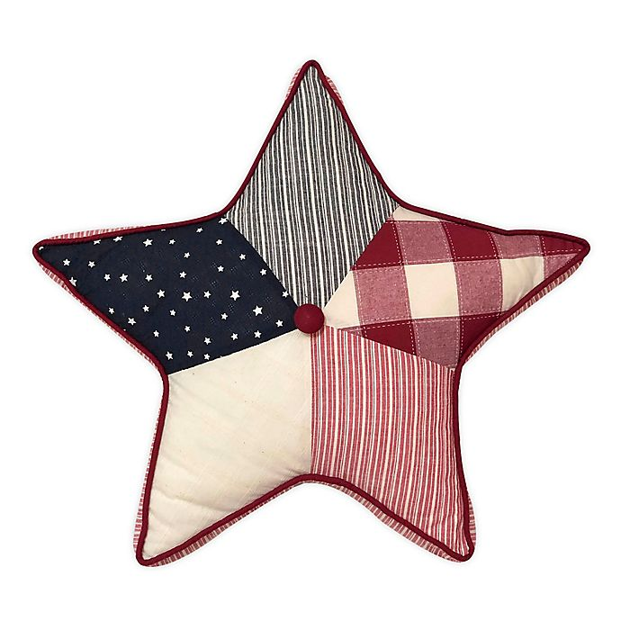 Alternate image 1 for Levtex Home Meridian Hill Star Throw Pillow in Red/Navy