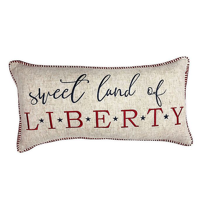Alternate image 1 for Levtex Home Meridian Hill Land Of The Free Oblong Throw Pillow in Natural