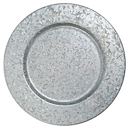 Bee & Willow™ Home Galvanized Metal Charger Plate in Silver