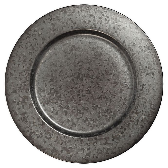 Alternate image 1 for Bee & Willow™ Home Galvanized Metal Charger Plate in Black