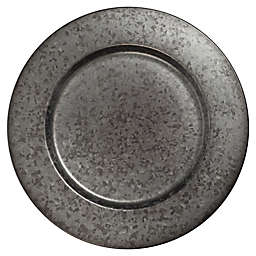 Bee & Willow™ Galvanized Metal Charger Plate in Black