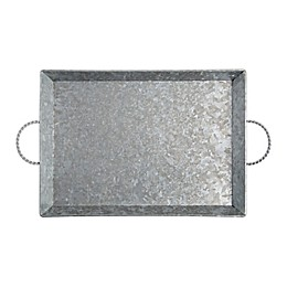 Bee & Willow™ Home Galvanized Metal 18-Inch Handled Serving Tray in Silver