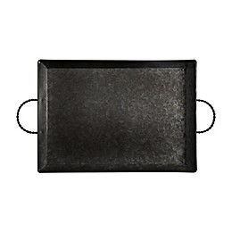 Bee & Willow™ Home Galvanized Metal 18-Inch Handled Serving Tray in Black
