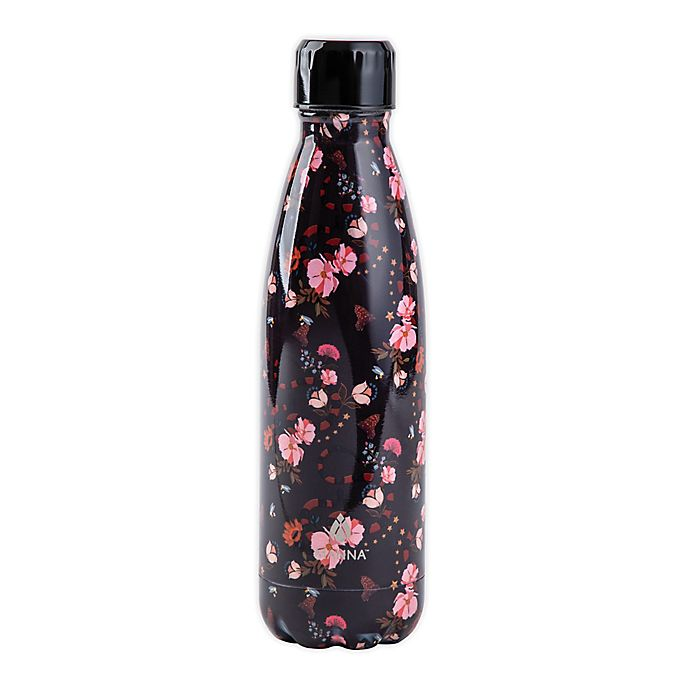 Alternate image 1 for Manna™ Vogue® 17 oz. Double Wall Stainless Steel Bottle in Snake Floral