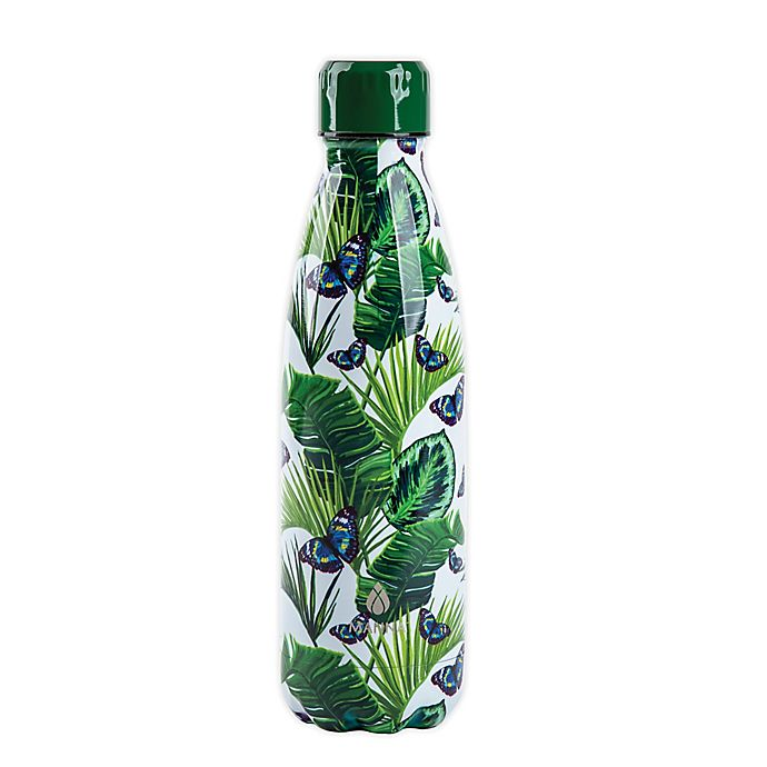 Alternate image 1 for Manna™ Vogue® 17 oz. Double Wall Stainless Steel Bottle in Butterfly Garden