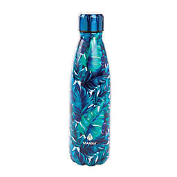 Manna™ Vogue® 17 oz. Double Wall Stainless Steel Bottle in Pink Palm