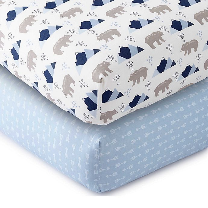 Alternate image 1 for Levtex Baby® Fitted Crib Sheets (Set of 2)