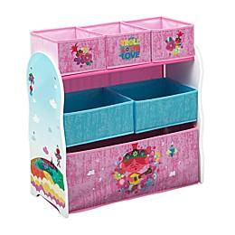 Delta Children Trolls World Tour 6-Bin Design and Store Toy Storage Organizer
