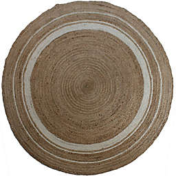 Jute Round Rug in Natural