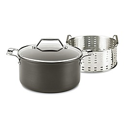 All-Clad Essentials Nonstick Hard-Anodized 6 qt. Steam, Poach and Stew Pot Set