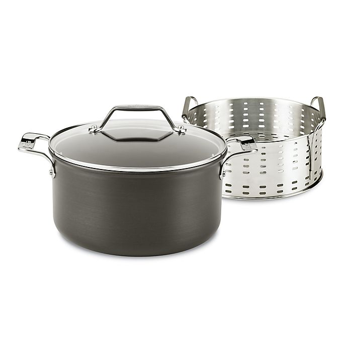 Alternate image 1 for All-Clad Essentials Nonstick Hard-Anodized 6 qt. Steam, Poach and Stew Pot Set