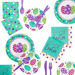 Creative Converting™ 72-Piece Foil Easter Eggs Party Supplies Kit