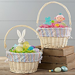 Vibrant Name Personalized Easter Basket With Drop-Down Handle