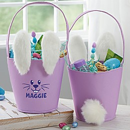 Plush Ears & Tail Personalized Bunny Easter Basket Collection
