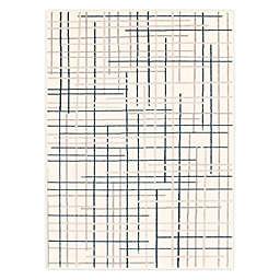 ECARPETGALLERY Tessa 7'10 x 10'2 Indoor/Outdoor Area Rug in Cream/Blue