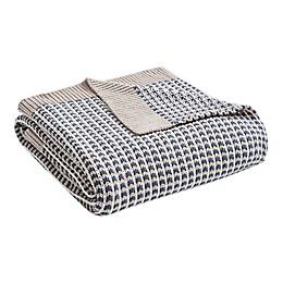 Madison Park Reed Throw Blanket in Grey