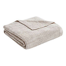 Madison Park Willow Throw Blanket in Tan