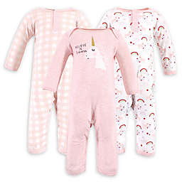 Luvable Friends® 3-Pack Unicorn Coveralls in Pink