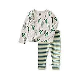 Tea Collection 2-Piece Cacti Pajama Set