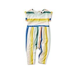 Tea Collection Stripe Cuff Sleeve Romper