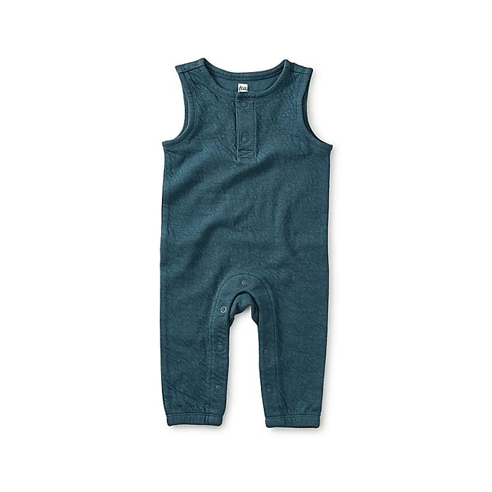 Alternate image 1 for Tea Collection Sleeveless Romper in Teal