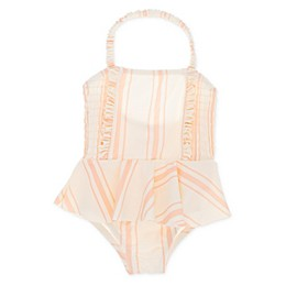 Jessica Simpson Stripe Swimsuit in Peach