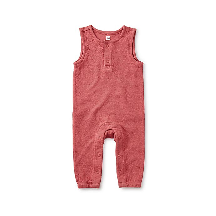 Alternate image 1 for Tea Collection Sleeveless Romper in Mauve