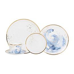 Olivia & Oliver™ Harper Splatter Gold Dinnerware Collection in Blue