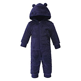 Hudson Baby® Sherpa Hooded Bear Coverall