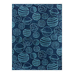 Hearthstone Space Planets 3'11 x 5'7 Area Rug in Blue