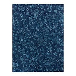 Hearthstone Mod-Tog Space Rockets 3'11 x 5'7 Area Rug in Blue