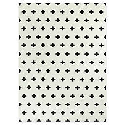 Hearthstone Mod-Tog Super Soft 5'3 x 7' Area Rug in Black