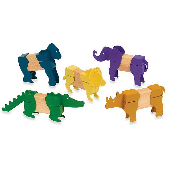 Alternate image 1 for Guidecraft Block Mates Safari Animals