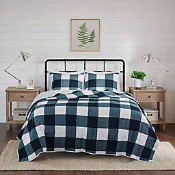 Madison Park Morrison 3-Piece Reversible Buffalo Check Coverlet Set