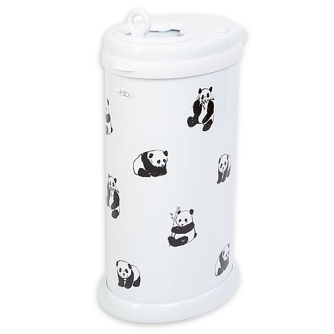 Alternate image 1 for Ubbi® 16-Count Panda Diaper Pail Decals in Black/White