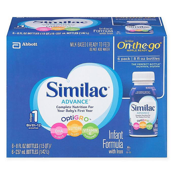Alternate image 1 for Similac® Advance Ready to Feed 6-Pack 8 oz. Bottles
