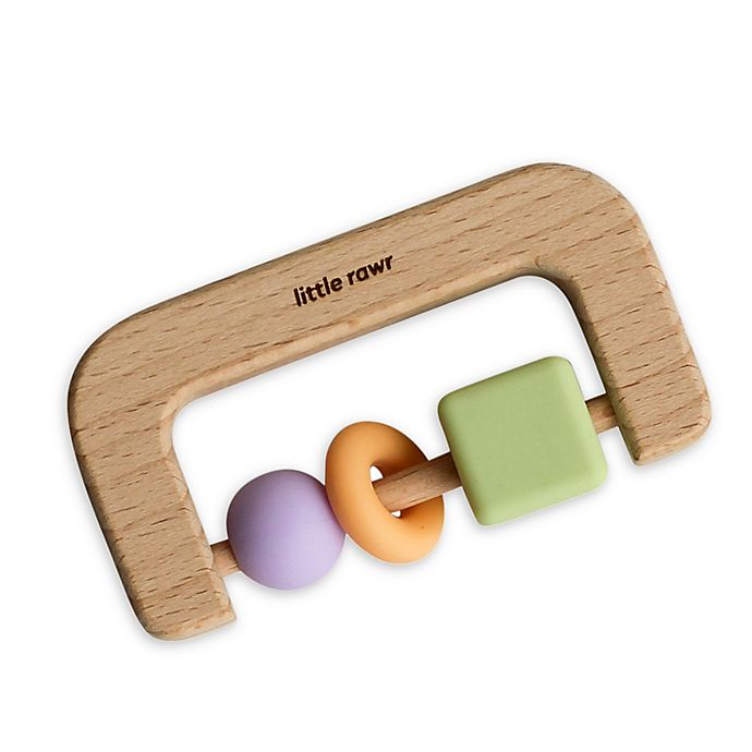 Alternate image 1 for Little Rawr™ Silicone and Wood D Teether