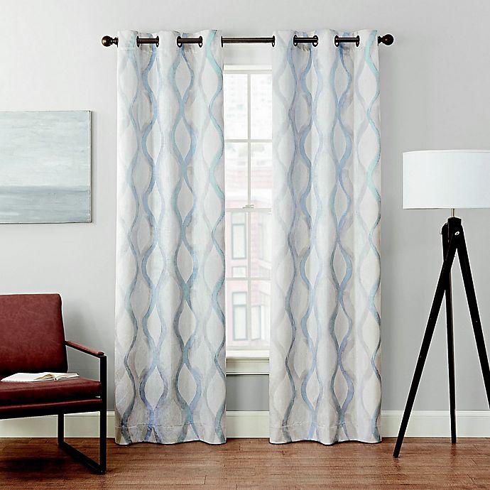 Alternate image 1 for Brookstone® Velvet Alto Grommet Blackout Window Curtain (2-Pack)
