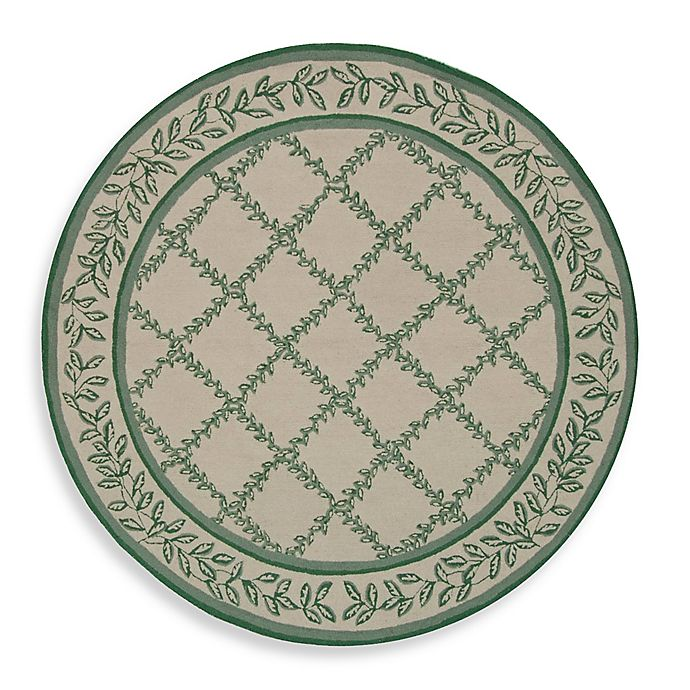 Alternate image 1 for Safavieh Chelsea Wool 4-Foot Round Area Rug in Ivory/Light Green